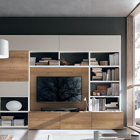 Composizione tomasella modello a036 soggiorni a prezzi for Mobili contenitori soggiorno moderni