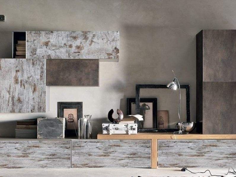 composzione soggiorno vintage decape\' white bronzo in offerta nuovimondi