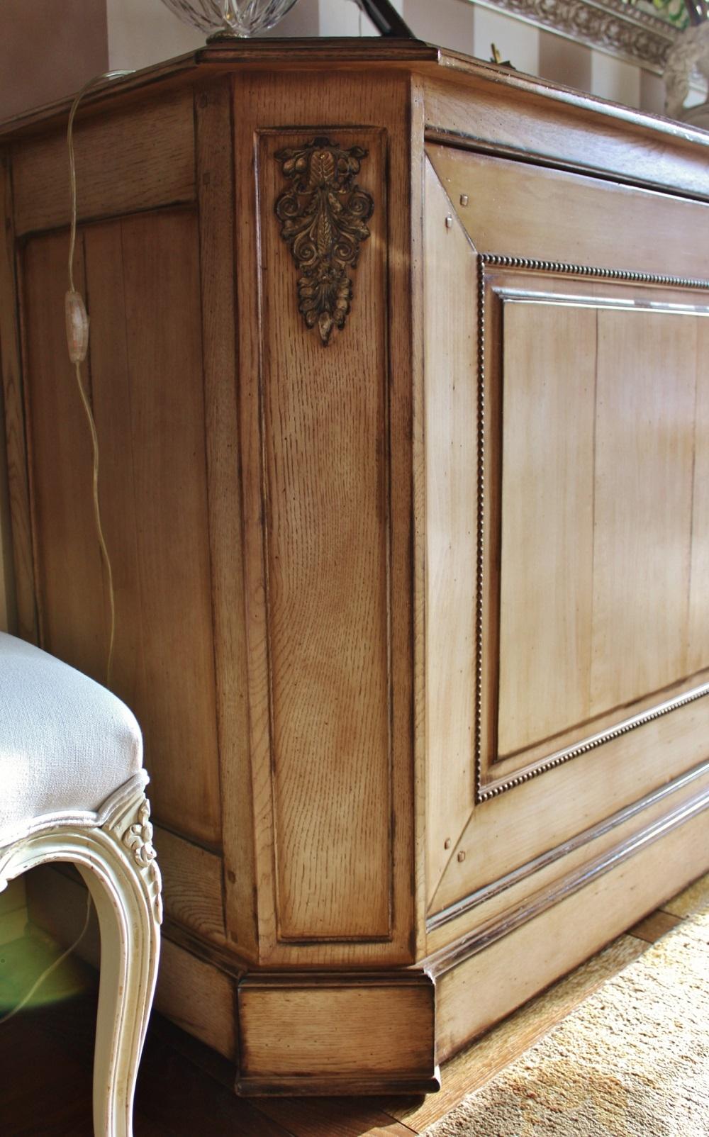 Credenza 2 ante grande arredo in legno ciliegio e rovere for Legno arredo