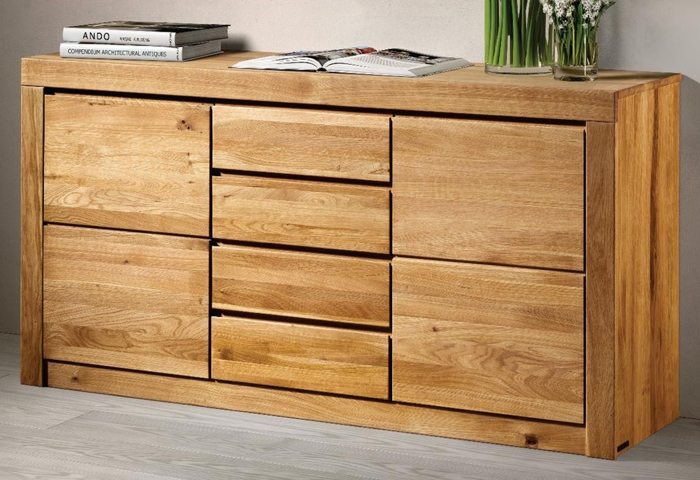 Credenza Living legno massello rovere -48% - Soggiorni a ...