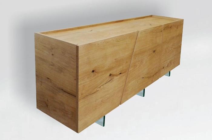 Credenza a 3 ante in legno massello di rovere sconto 49 - Mobili legno massello ...