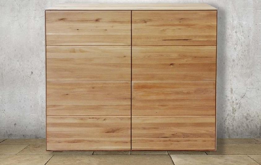 Credenza alta a 4 ante in legno massello di rovere soggiorni a prezzi scontati - Dipingere ante cucina in legno ...