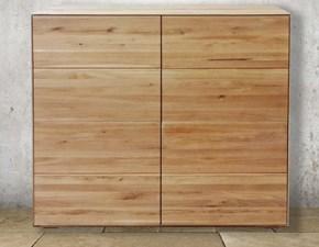 Credenza alta a 4 ante in legno massello di rovere