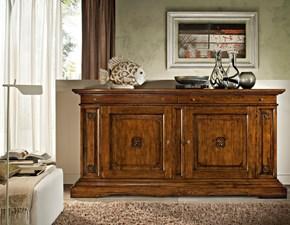 Credenza Artigianale legno massello con intaglio OFFERTA OUTLET