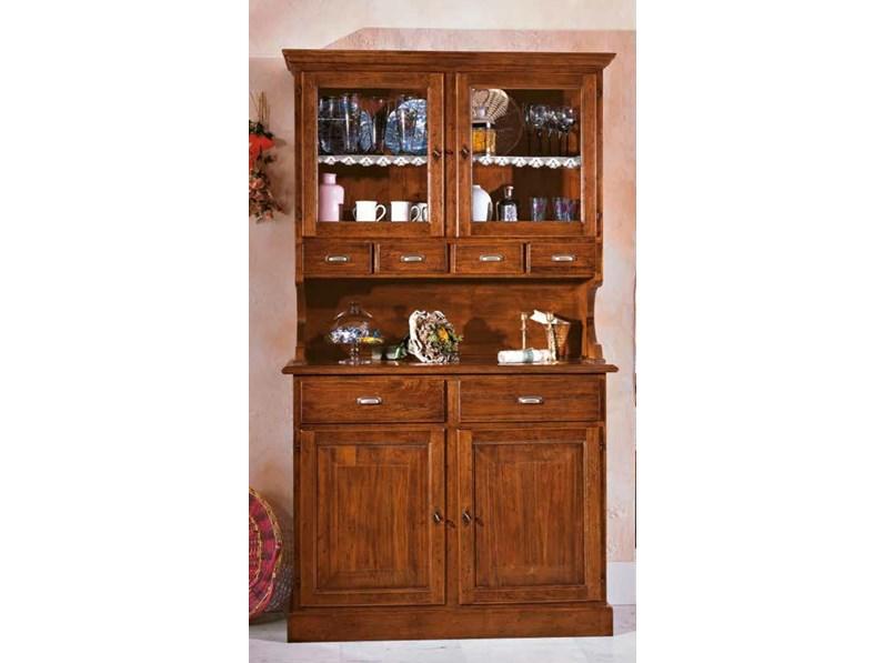 Credenza Con Vetrina In Stile : Credenza classica in legno massello mobile artigianale.