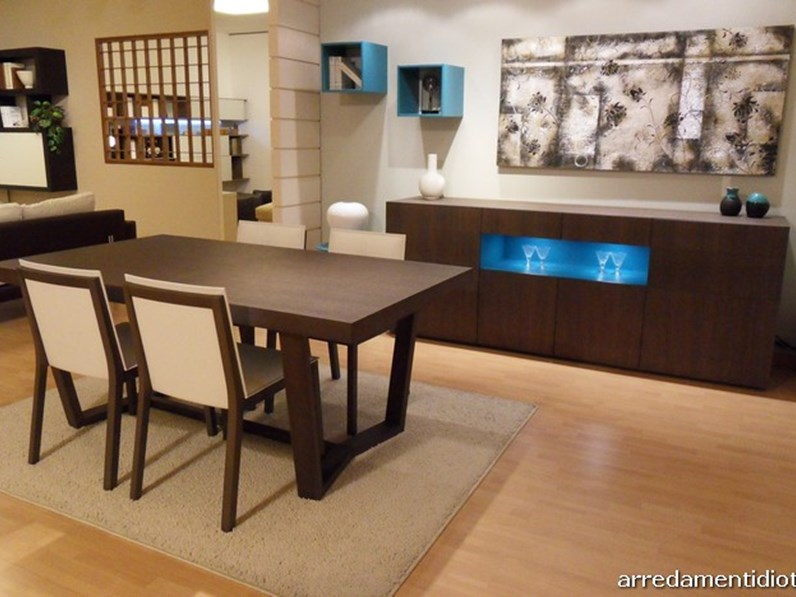 Credenza Con Tavolo : Credenza metropolis con tavolo e sedie abbinate scontate