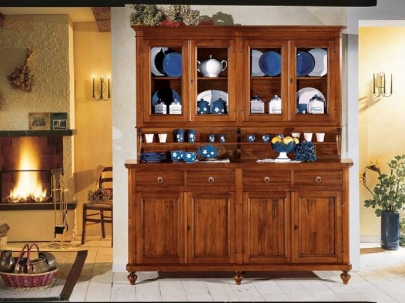 Credenza con vetrina quattro ante in legno - Soggiorni a prezzi ...