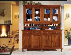 Credenza vetrina in stile classico mobile rustico artigianale