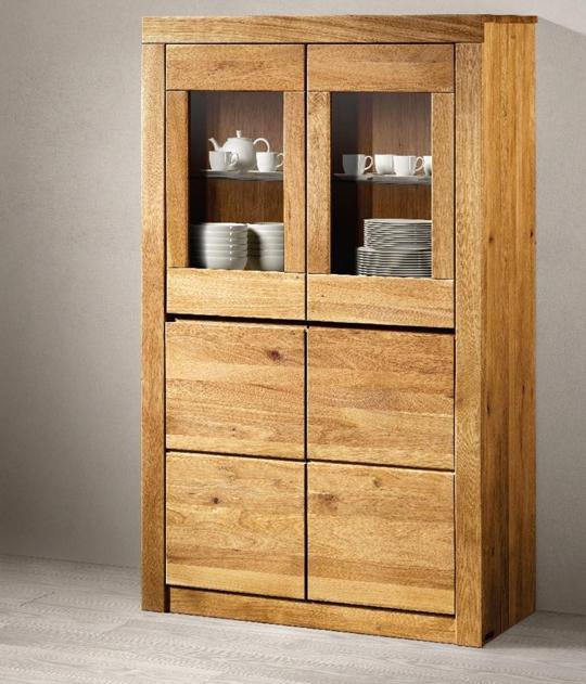 Credenza vetrinetta in legno massello 48 soggiorni a - Credenze cucina ikea ...