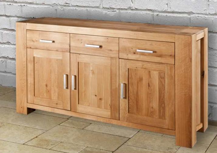 Credenza cucina soggiorno 3 ante 3 cassetti in legno massello di ...