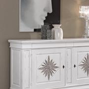 Credenza margherita in legno massello stile classica