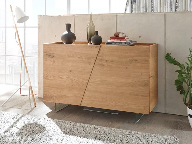 Madia 2 ante moderna in legno massello rovere scontata -45%