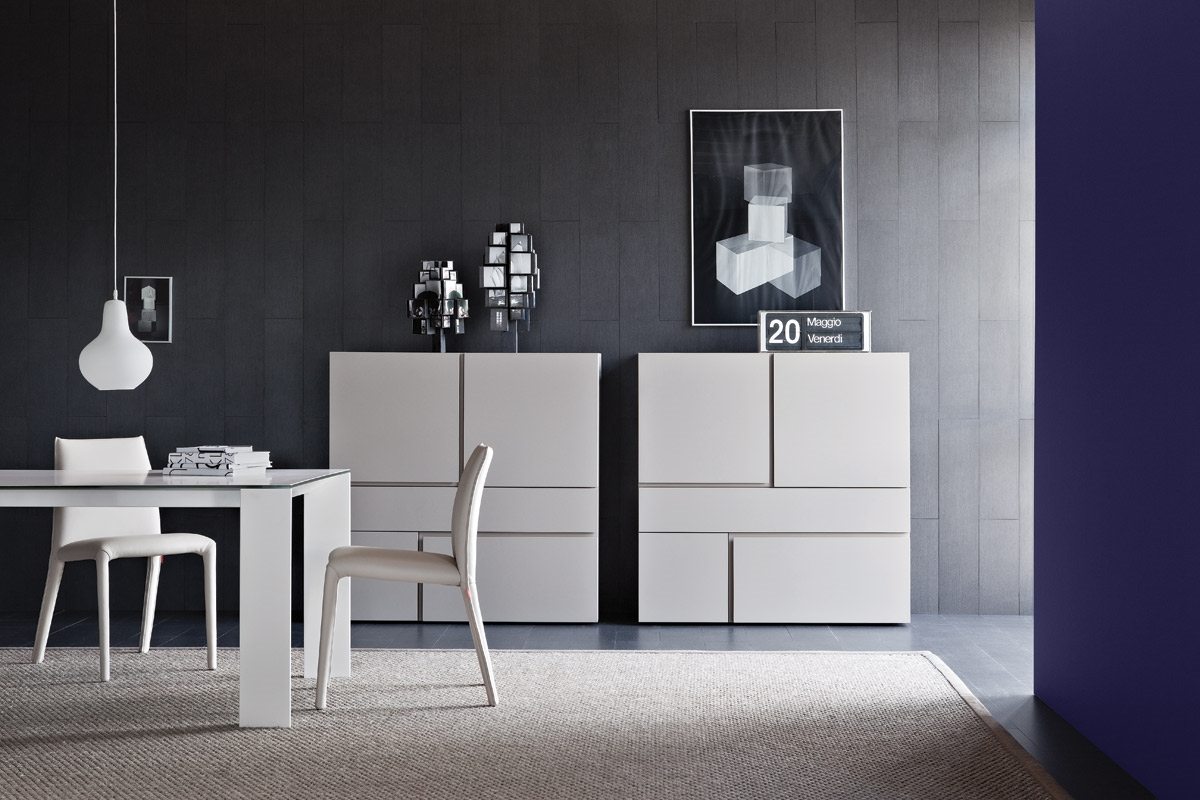 Credenza moderna quadra laccato soggiorni a prezzi scontati for Mobili soggiorno design