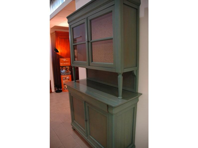 Credenza morelato in legno massello tinta anilina verde - Morelato mobili ...