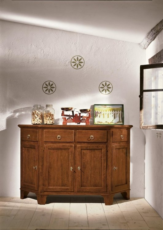 Credenza base scantonta in legno arte povera - Soggiorni a prezzi ...