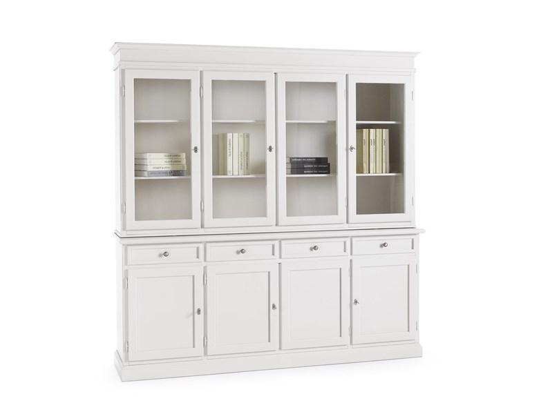 Credenza Bianca Con Vetrina : Credenza vetrina bianca mobile artiginale