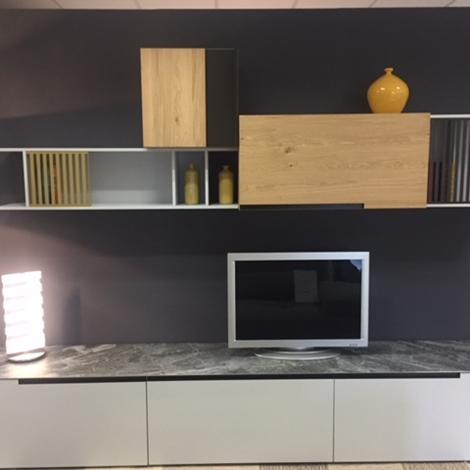 Dall 39 agnese soggiorno slim speed legno pareti attrezzate design soggiorni a prezzi scontati - Pareti attrezzate design ...