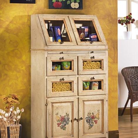 Dispensa con cassetti in legno mobile artigianale for Dispensa legno