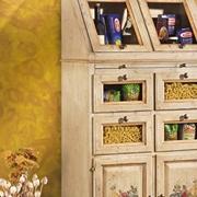 Credenza in legno d'abete laccato avorio stile classico