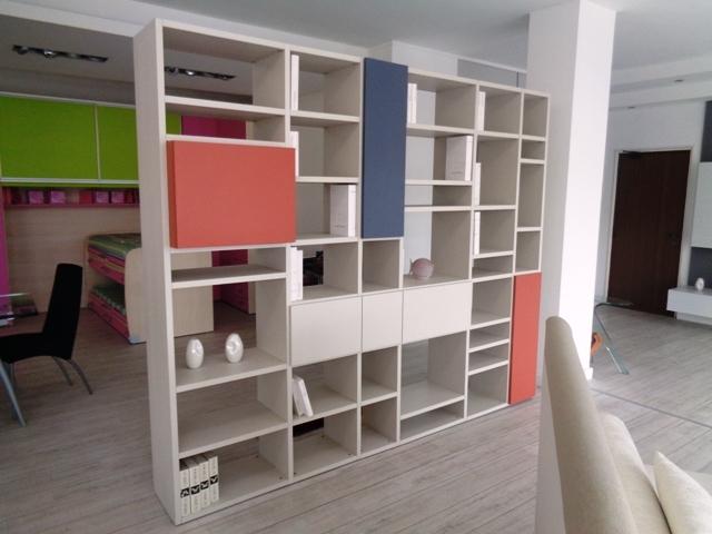 Ingresso libreria bifacciale montreal parete attrezzata