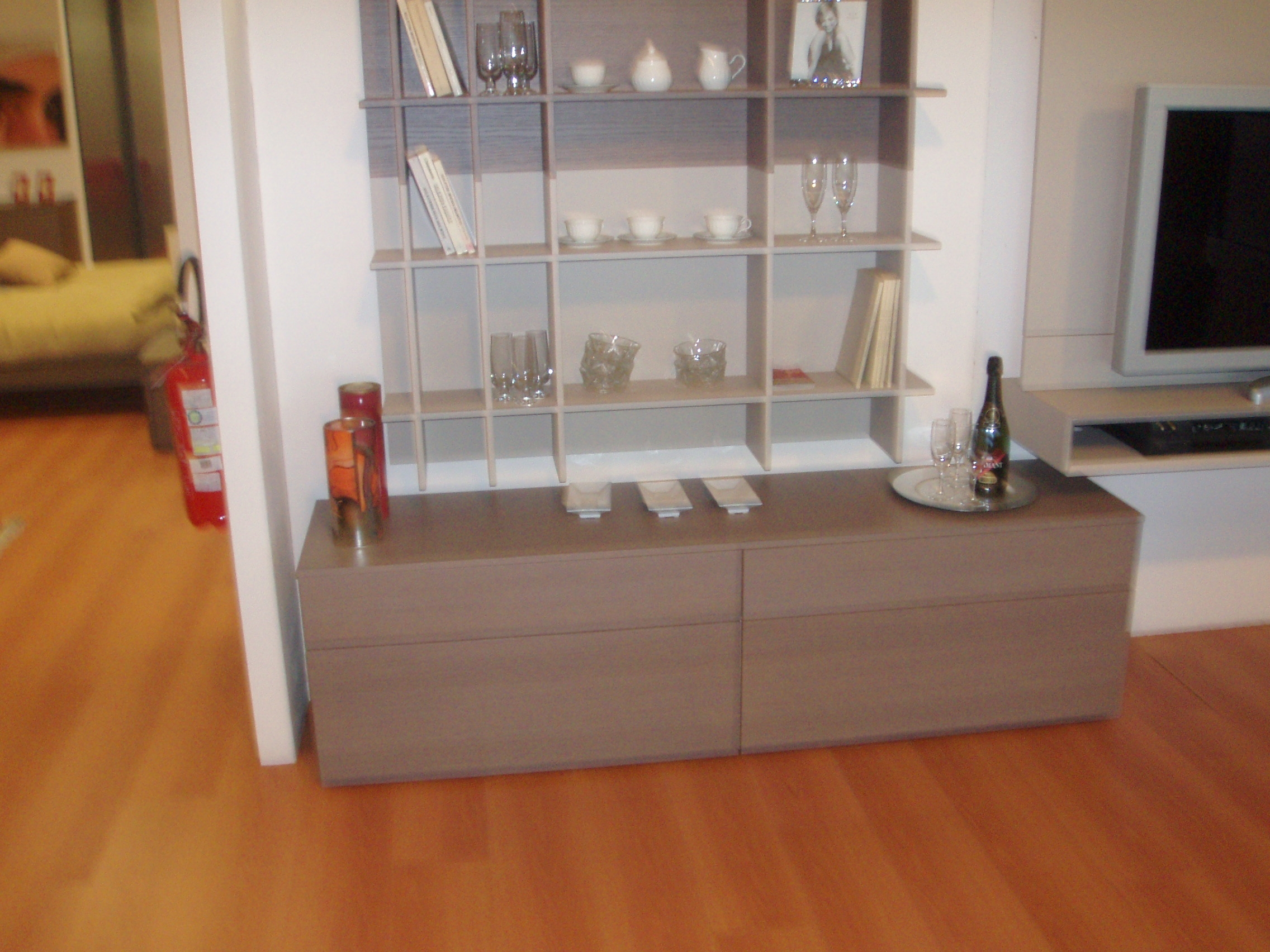 Soggiorno doimo design jazz legno pareti attrezzate for Arredamento soggiorno moderno in legno