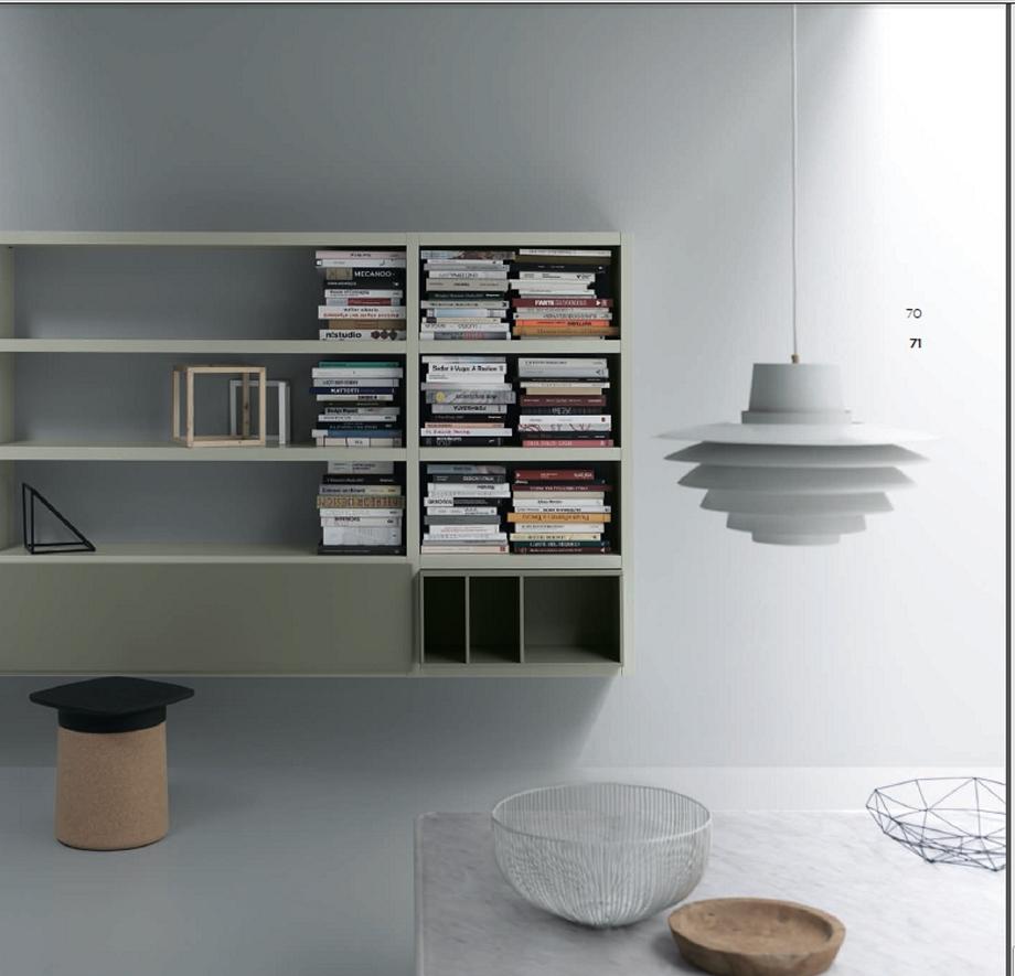 Soggiorno parete attrezzata design scontato del 61 for Design scontato