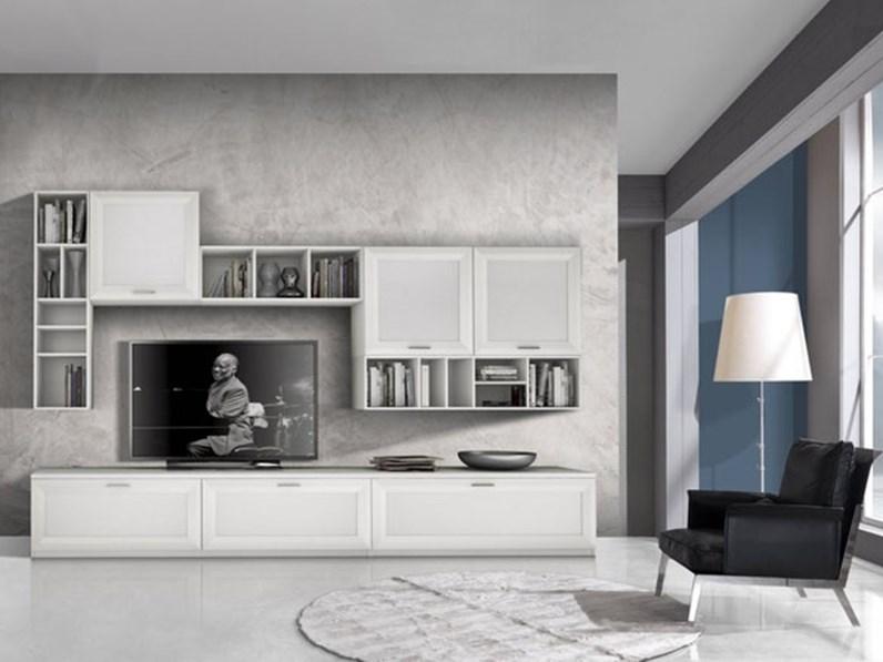 Gierre mobili soggiorno jazz laminato materico pareti for Soggiorni pareti attrezzate