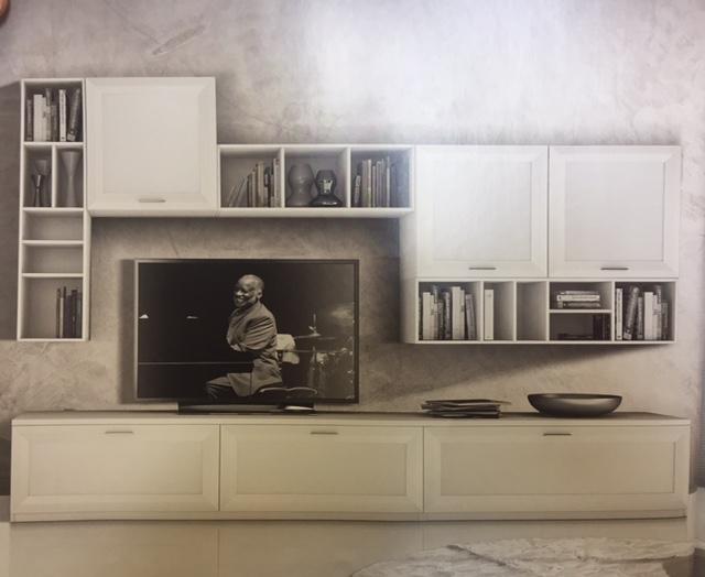 Gierre mobili soggiorno jazz laminato materico pareti - Mobili a parete per soggiorno ...