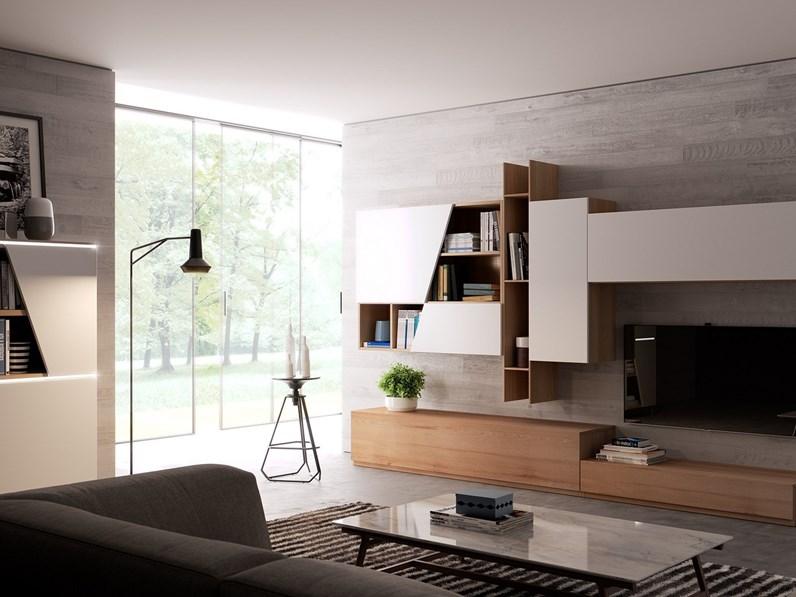 Giessegi soggiorno living scontato del 32 for Soggiorno living