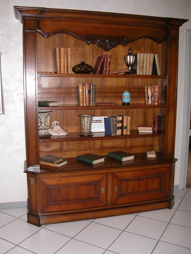 Grande arredo soggiorno libreria a giorno 2 ante sconto 55 - Mobili soggiorno legno massello ...