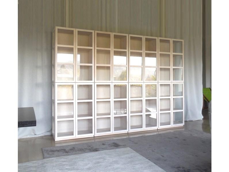 Idealform Soggiorno Libreria book vetrina sistema componibile Legno