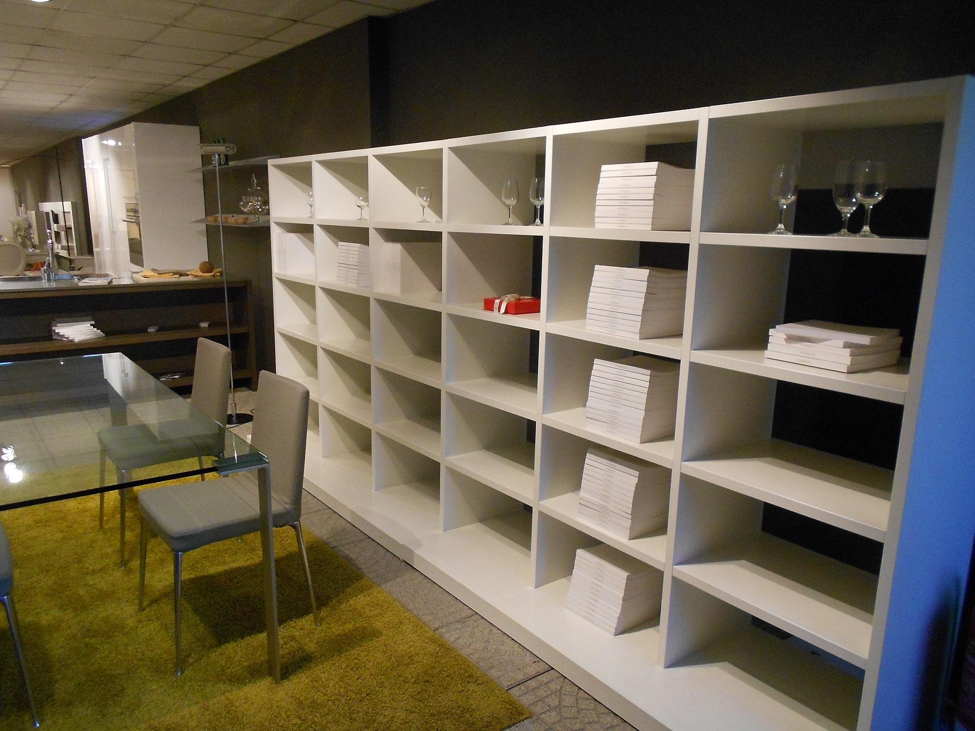 Jesse Soggiorno Regolo Laccato Opaco Librerie Design Libreria Bianca - Soggio...