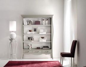 Libreria in legno in stile shabbi Chic verniciato bianco