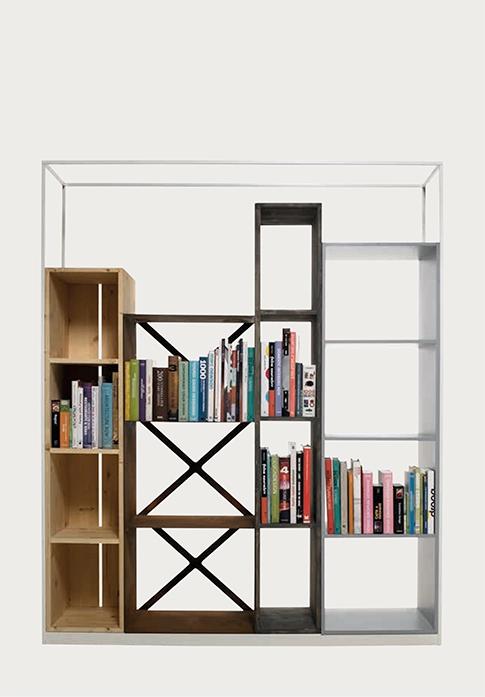 Libreria a moduli modello industry prodotto di design a for Moduli libreria