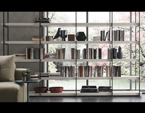 Libreria A102 Tomasella in laminato materico a prezzo scontato