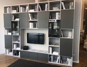 Libreria Alf in laminato opaco Libreria modello my space a prezzo Outlet