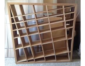 Libreria Artigianale in legno Diagonale teak massello a prezzo Outlet