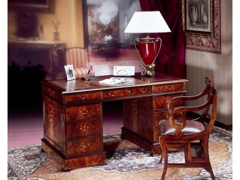 Libreria Artigianale in legno Scrivania mod.oxford in piuma di ...