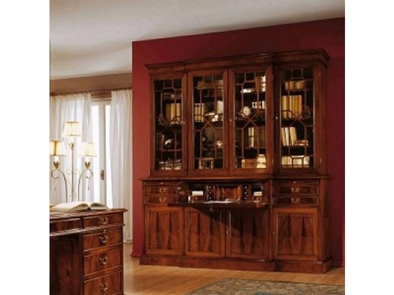 Libreria Artigianale Libreria mod.oxford in piuma di mogano scontata ...