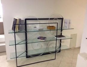Libreria Barel in metallo Trasparente in Offerta Outlet