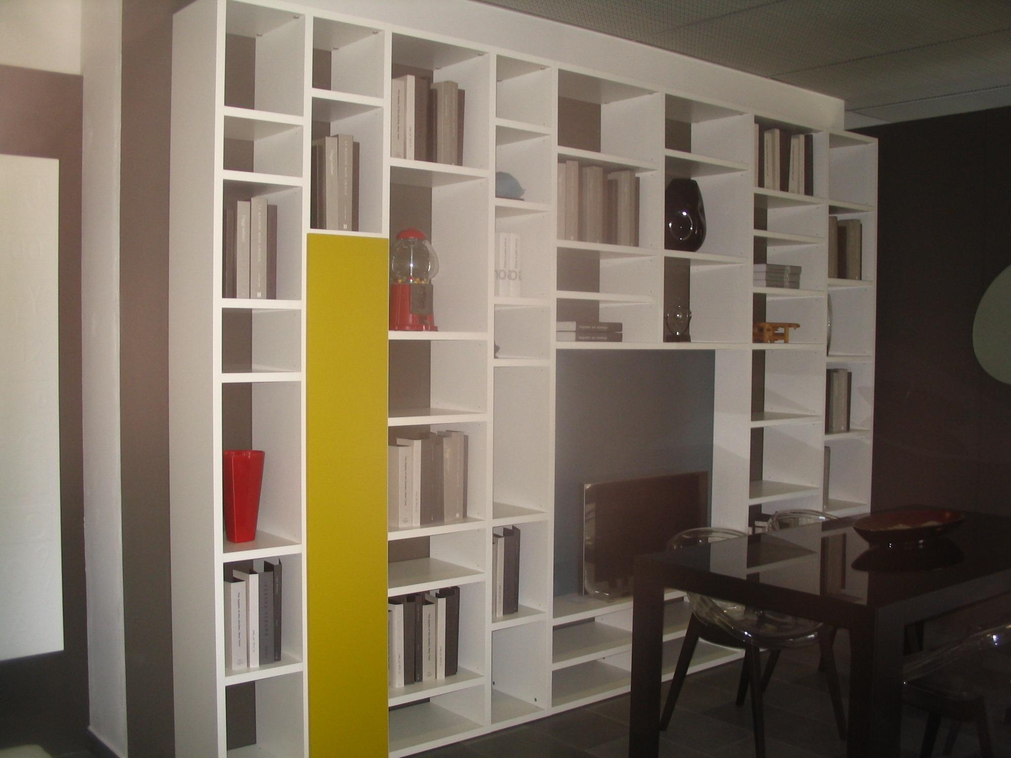 Soggiorno lema selecta laccato opaco librerie moderno for Libreria soggiorno moderno