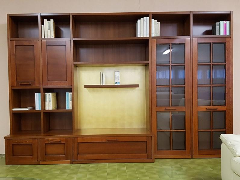 Libreria borgo rio di tempor impiallacciato noce for Minelle arredamenti