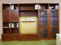 Libreria borgo rio di tempor impiallacciato noce for Mobile libreria in offerta