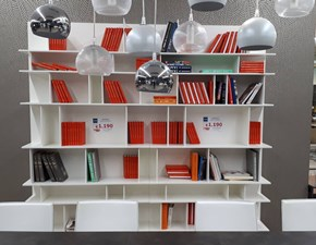 Libreria Cattelan in laccato opaco Wally in Offerta Outlet