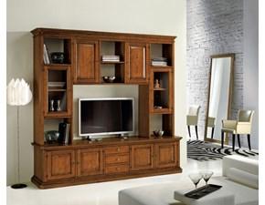 mobile porta tevisione soggiorno moderno in legno artigianale