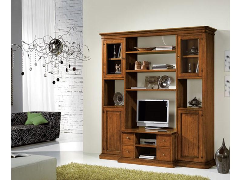 Libreria classica in legno mobile porta televisione - Mobili libreria classica ...
