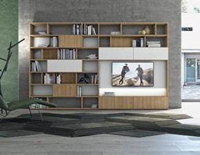 Libreria Contract Colombini in legno a prezzo Outlet