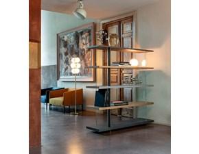 Libreria Devina nais in vetro Zero.16 alta con vetro in Offerta Outlet