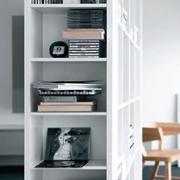 Libreria in promozione, finitura laminato Bianco seta