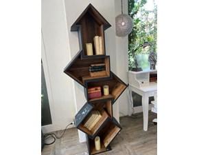 Libreria Dialma brown in laccato opaco Libreria a prezzo scontato